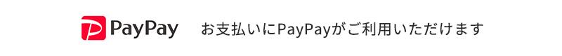 お支払いにPayPayがご利用いただけます